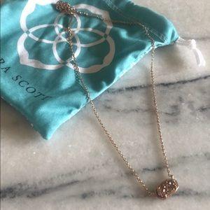 Kendra Scott gold druzy necklace